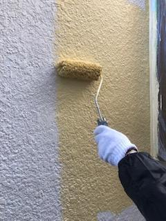 日高市で外壁モルタルの塗装工事を施工してきました