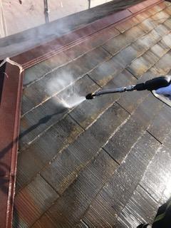 日高市で屋根高圧洗浄工事を施工しました