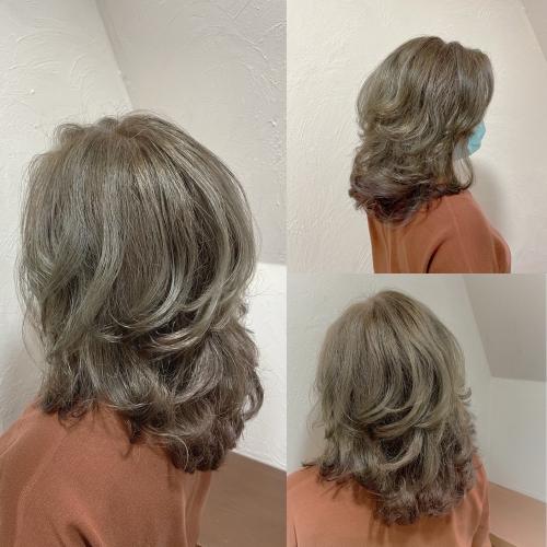 白髪をポジティブに♪ブリーチ無しで、シルバーアッシュ!