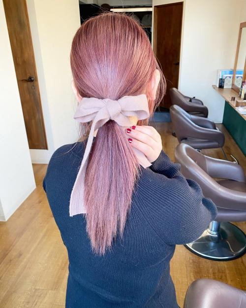 ブリーチカラー ピンクヘア ピンクアッシュ