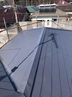 日高市で屋根の塗装工事を施工しました