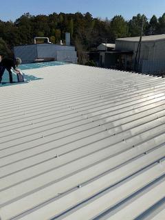 都幾川町で屋根塗装工事を施工してきました
