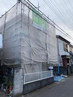 鶴ヶ島市で外壁水洗い工事をしてきました