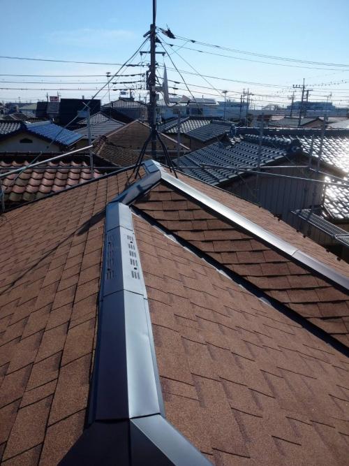 屋根リフォーム工事が完了しました