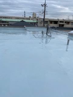 鶴ヶ島市で屋上ウレタン防水工事が完了致しました