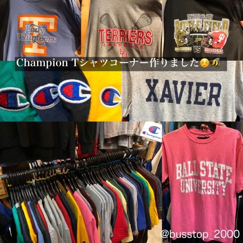 ChampionTシャツコーナー作りました!