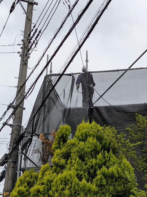 横浜市都筑区某所塗り替え工事