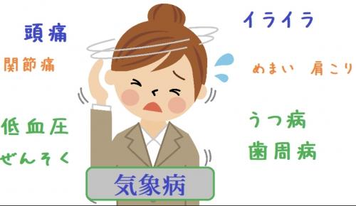 気象病、頭痛、めまい、肩こり、体調不良はオリンピア鍼灸整骨院
