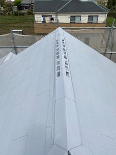 日高市で屋根塗装工事を施工致しました