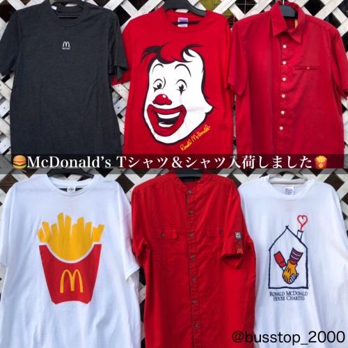 マクドナルドTシャツ&シャツ入荷しました‼︎