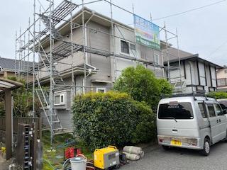 本庄市で高圧洗浄工事を施工してきました