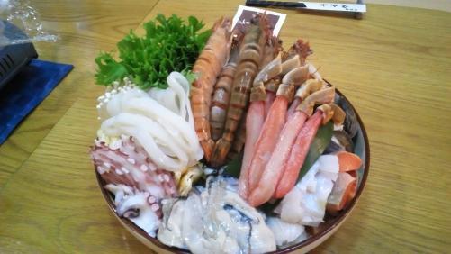 豪華!海鮮鍋!ちょっとリッチな忘年会。お座敷で。