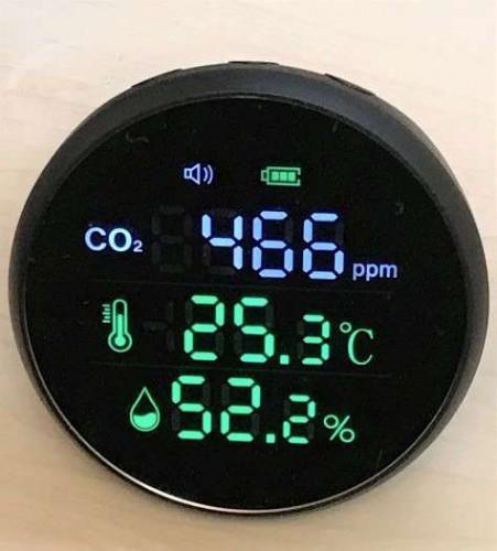 二酸化炭素測定器を設置しました