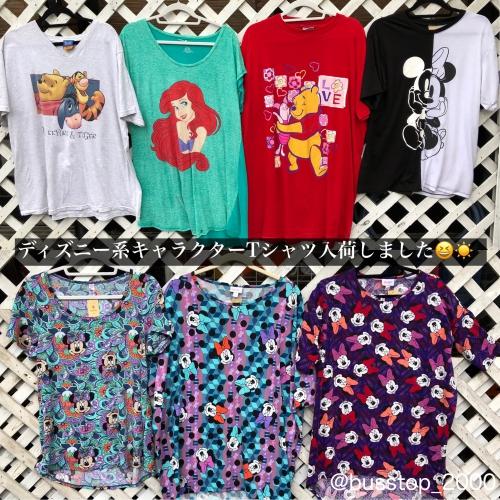 ディズニー系キャラクターTシャツ入荷しました!