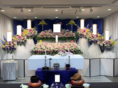 日華多磨葬祭場にて家族葬