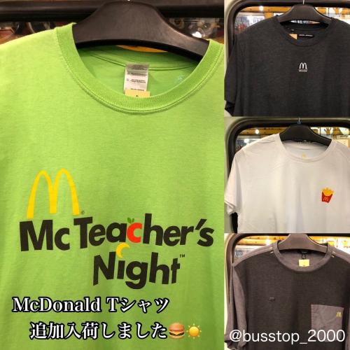 マクドナルドTシャツ追加入荷しました!