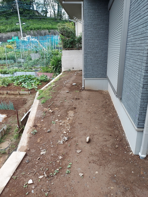 川崎市宮前区で外構工事。