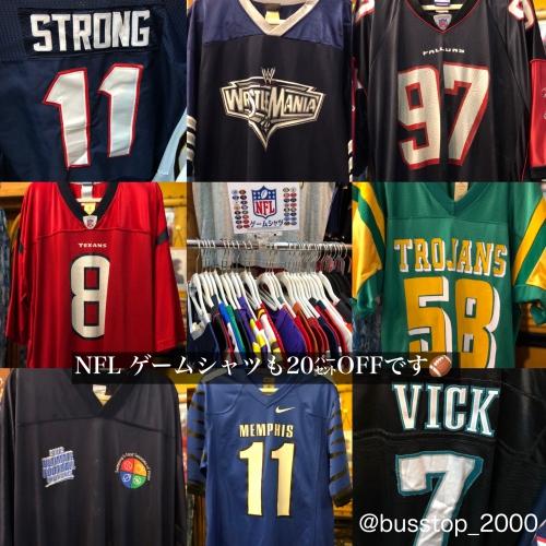 NFL他ゲームシャツも20%オフです‼︎