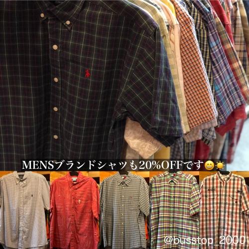 MENSブランドシャツも20%OFFです!