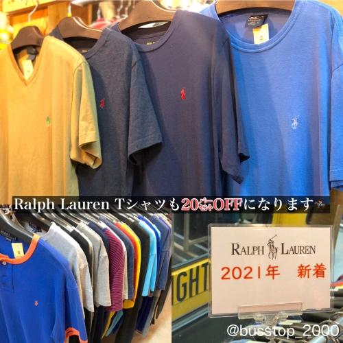 Ralph LaurenのTシャツも20%OFFになります!