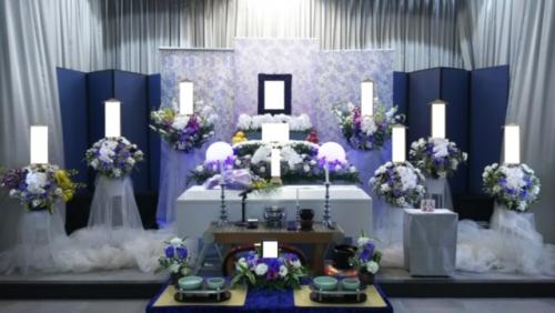 朝霞市斎場にて1日葬