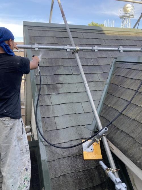 青葉区美しが丘H医院屋根・外壁塗り替え工事