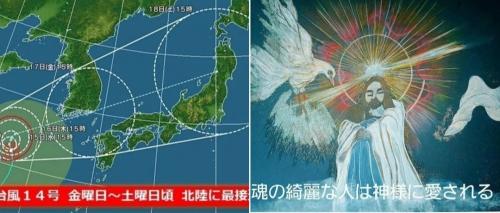 台風14号弱まりますように
