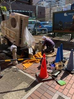 青江美奈 記念碑修復工事