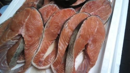 鮭。焼き魚が、最高。女子会におすすめ!