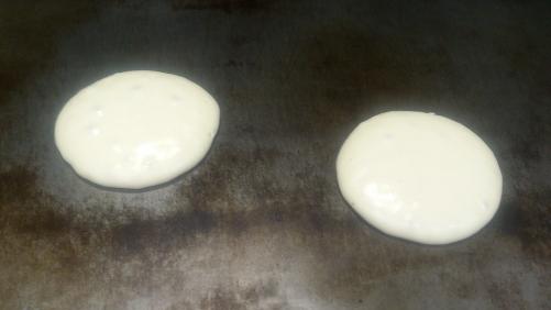 笠間市友部 お好み焼き屋のランチ パンケーキハーフセット